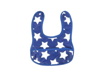 Smallstuff - Eating Bib Small with pocket - Navy/White (27003-4)