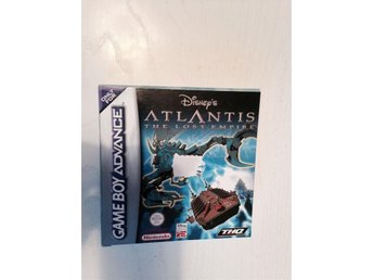 Game Boy Advance  spel  Atlantis..  Disney  Komplett!  ( Nintendo ) Fint skick!!