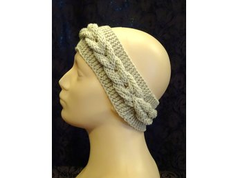 New Handstickad varm Huvudband /Made By Hanna/merinoull headband