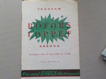 Program Röfors Loppet Arboga 1964