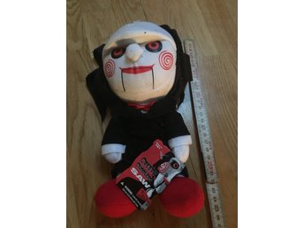 Saw Billy the puppet docka figur mjukis creepy cuddlers oanvänd Mezco