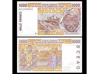 Senegal 1 000 francs 2002