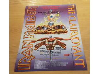 IRON MAIDEN THE CLAIRVOYANT 1988 POSTER