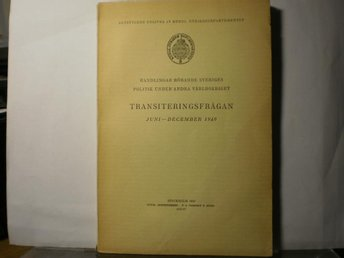 Transiteringsfrågan juni- december 1940.