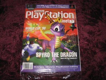 PLAYSTATION MAG Nr7 NY MED CD 7/1998 SPYRO THE DRAGON RETRO