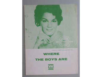 Äldre notblad. Schlagerklubben. Where The Boys Are (Connie Francis)