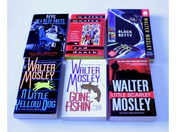 BOKPAKET - Walter Mosley - Easy Rawlins mysteries - 6st - Devil in a blue dress