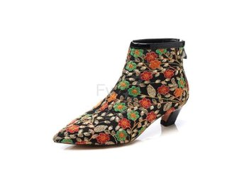 Dam Boots women embroider ladies prom shoes Black Size 39