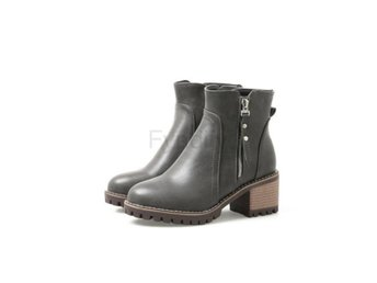 Dam Boots Style Spring and Autumn Women Boots Gray 41