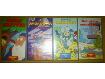 SMURFARNA PAKET 4 FILMER (VHS) Svenskt tal, Pickwick video, Independent