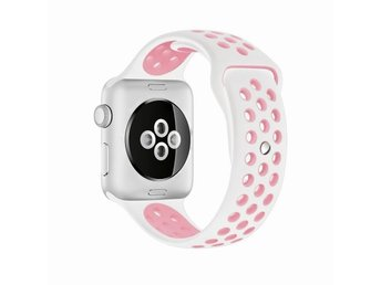 Sport Band 42/44mm Apple Watch Armband - (WHITE / PINK)