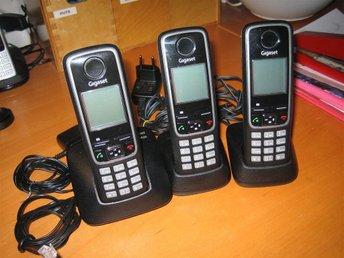 Siemens Gigaset Trio A420. Basstation, 2 laddstationer, 3 telefoner. Elkablar oc - örebro - Siemens Gigaset Trio A420. Basstation, 2 laddstationer, 3 telefoner. Elkablar oc - örebro