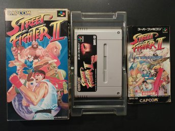 Street Fighter II 2 till Super Famicom - Boxad