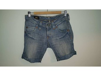 Lee jeans-shorts i Linne/bomull W28