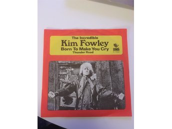 "7"" singel Kim Fowley ""super Rare!! psych/garage rock /svensk press"