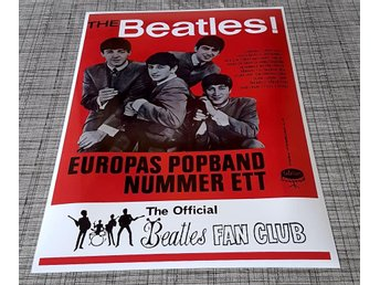 BEATLES SWEDISH TOUR 1963 PHOTO POSTER