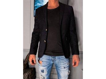 HUMAN SCALES svart kavaj jacka M (394626774) ᐈ Köp på Tradera