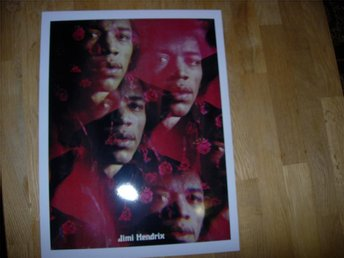 Jimi Hendrix snygg poster affisch fotorepro