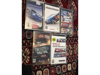 Ridge Racer 1+2+ GTA Liber City+Toca Race Driver 2+Twistet Metal Head On