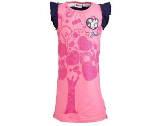 T-SHIRT FRIENDS, DRESS, CERISE-128