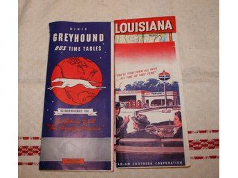 GREYHOUND TIDTABELL 1951, BILKARTA PAN-AM