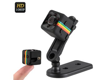 1080p Mini Camera - 120-Degree Lens, Night Vision, CMOS Sensor, 32GB SD Card Sup