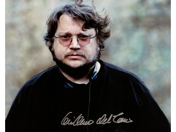 GUILLERMO DEL TORO autograf, signerat foto 20x25 The Shape of Water, Hellboy