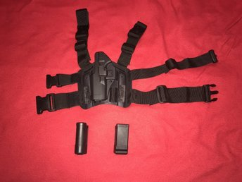 SWAT Airsoft Tactical Glock Leg Holster Svart.