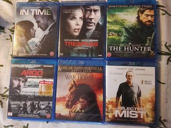 In Time, Trespass, The Hunter, Argo, Warhorse, Electric mist (Nyskick, Bluray) - Söderköping - In Time, Trespass, The Hunter, Argo, Warhorse, Electric mist (Nyskick, Bluray) - Söderköping