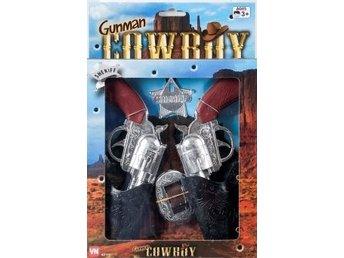 VN Leksaker - Pistolset - Cowboy Sheriff - 2st pistoler med hölster Bricka - Uddevalla - VN Leksaker - Pistolset - Cowboy Sheriff - 2st pistoler med hölster Bricka - Uddevalla