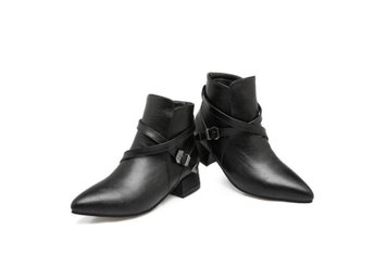 Dam Boots buckle ankle boots big size 34-43 Black Size 39