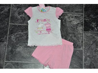 Ny  92/98=2-3 år  peppa´pig friends short o tröja