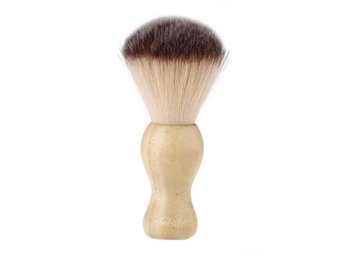 Barber Saloon Shaving Brush. Bamboo Handle. Free Shipping. Soft Nylon Bristles.