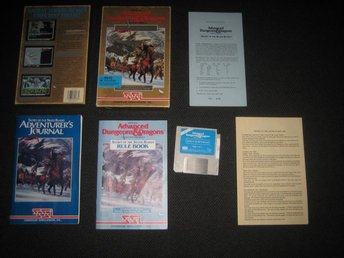 SSI AD&D Secret of the Silver Blades i box till IBM PC