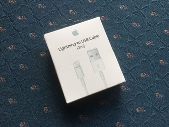 Iphone laddare - 2 meter - Original - Apple - Lightning - Plomberad