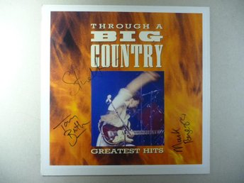 "BIG COUNTRY - SIGNERAD PROMO 12"" SKYLT - SIGNED"