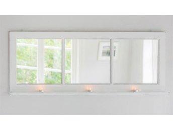 Shabby chic fönsterspegel med hylla 3 fönster - Rimbo - Shabby chic fönsterspegel med hylla 3 fönster - Rimbo