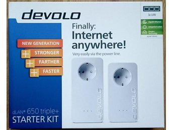 Devolo dLAN 650 Triple+ Starter Kit - Homeplug / Powerline