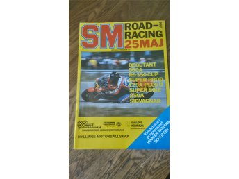 SM  Road Racing 25 maj 1986 program