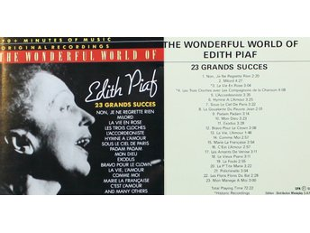 Edith Piaf, 23 grands succes (CD)