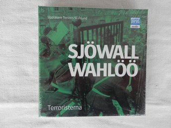 CD-bok Terroristerna av Sjöwall & Wahlöö! NY inplastad!  cd PLUS mp3