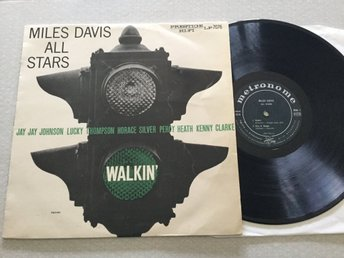 Lp Miles Davis all stars-Walkin' very rare danskt org 1958