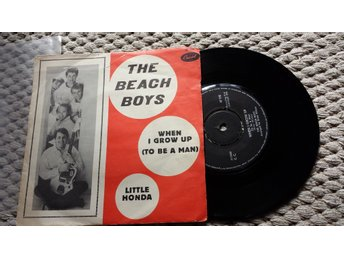 "THE BEACH BOYS Little Honda 7"" 1964 SWEDEN ORIGINAL RARE PICTURE SLEEVE"
