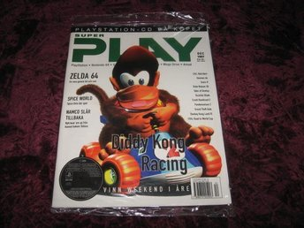 SUPER PLAY NY MED CD DEC 1997 DIDDY KONG RACING 64 INPLASTAD