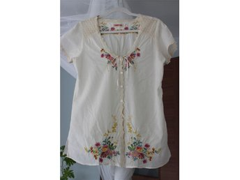 JOHNNY WAS broderi blommor Shabby Chic romantisk S/M - Nybro - JOHNNY WAS broderi blommor Shabby Chic romantisk S/M - Nybro