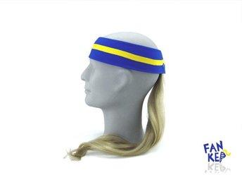 pannband i gult och blått, Fankeps, one size, frotté, blond hästsvans - Bocholt - pannband i gult och blått, Fankeps, one size, frotté, blond hästsvans - Bocholt