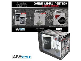 Gift Set - Mugg, nyckelring, mm - Game of Thrones - Stark