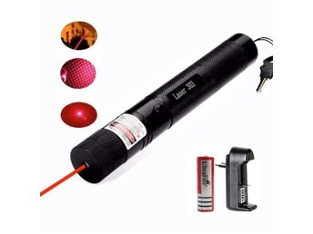 Red Laser Pointer Pen 303 High Power 650NM Adjustable Focus Bright 2 in 1 Starry