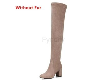 Dam Boots Thigh High Winter Botas apricot without fur 36