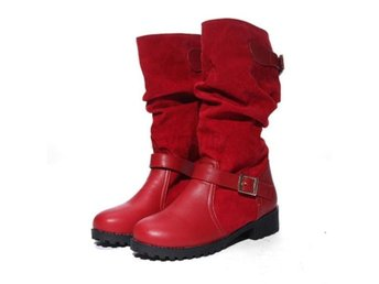 Dam Boots Round Toe Sexy Quality Footwear Shoes Red 41